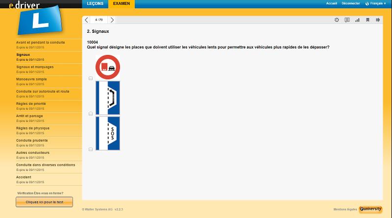 Test De Conduite >> Questions D Examen Permis De Conduire